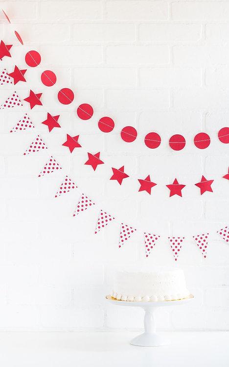 Cherry Red Mini Banner Set