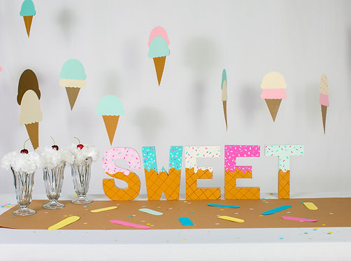 "Add-on - ""SWEET"" Paper mâché letters"
