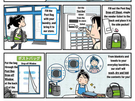 Manga Feature: Enman Laundry's Wash and Fold Post Bag Service