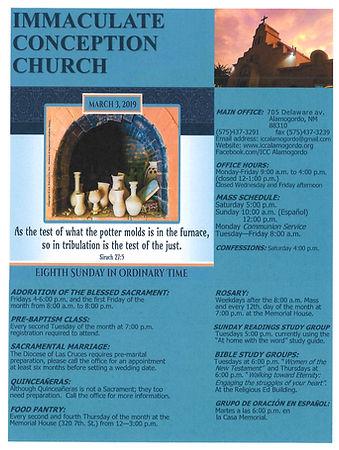 March 3rd Bulletin