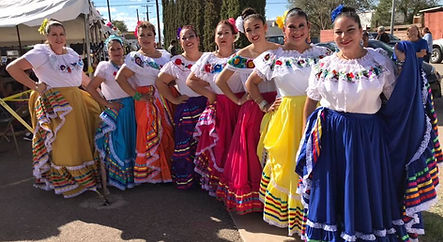 Female Dancers at 2018 Fiesta