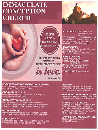 February 3rd Bulletin