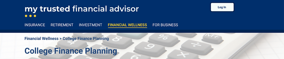 My trusted fin advisor website top mocku