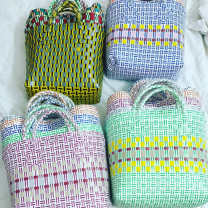 Handmade recycled plastic bags(please message to check availiability)