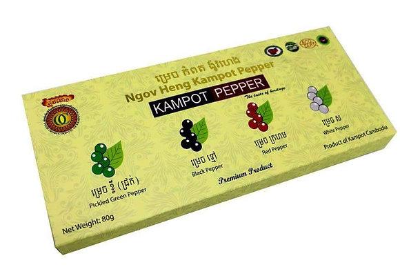 Kampot Pepper Gift pack 4x20gm