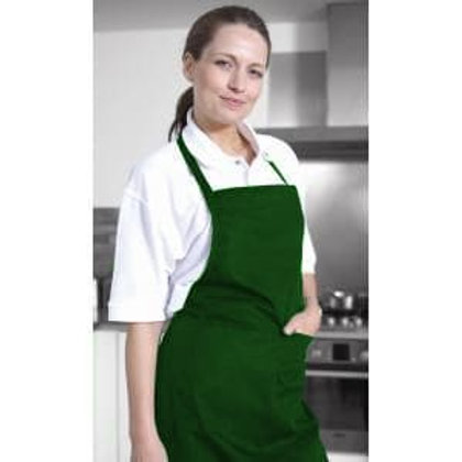 Chef Apron With Pocket Bottle Green