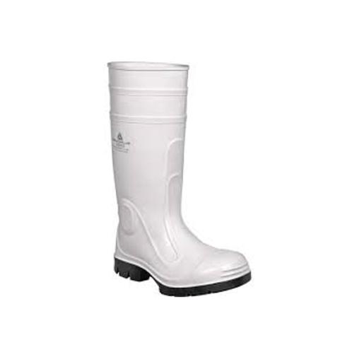 PVC Safety wellington white  size 8