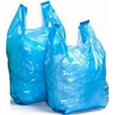 "12x18x23"" Recycled Blue Vest Carrier Bag 20mu"