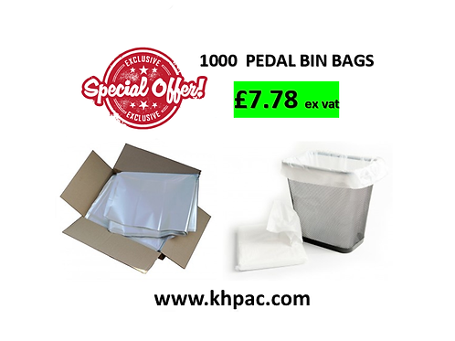 1000 Pack Of White Bin Liners