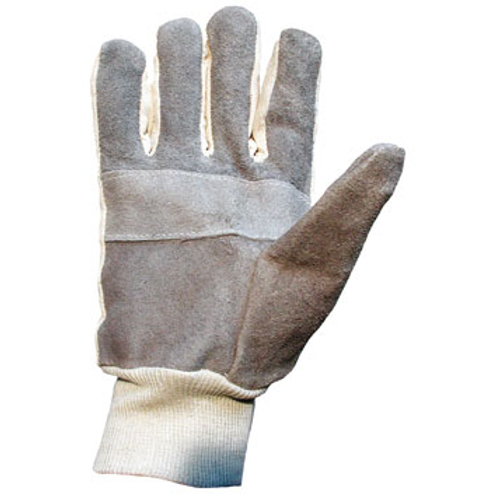 Cotton chrome knitwrist gloves mens