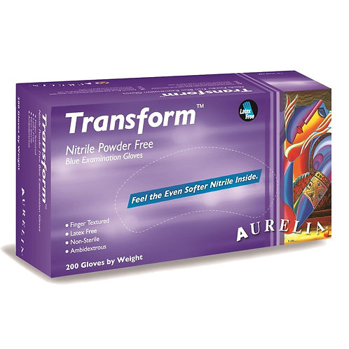 200 gloves AURELIA Transform Nitrile BLUE P/F Examination Gloves