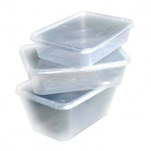 Clear Plastic Take Away Container with Lid