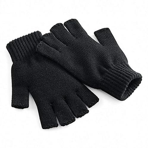 Fingerless Mitts black size 9 large
