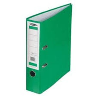 3 - A4 Lever Arch File PVC Spine 70mm GREEN