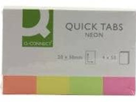Q - Connect Quick Tabs Neon  20 x 50mm