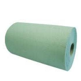 1ply Green Wiper Roll Embossed 20cmx76mtr GRT