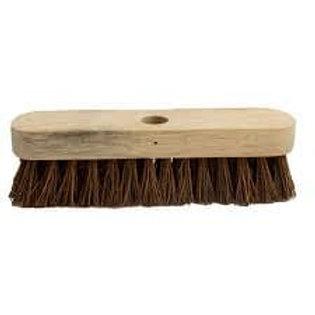 """9"""" Stiff (Bassine) Wooden Deck Scrub"""