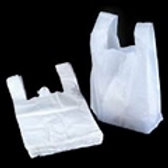 "16x24x29"" 25mu White Vest Carrier Bags"