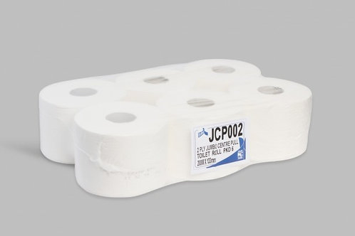 2ply White Centrefeed Jumbo T/Roll 200Mtr