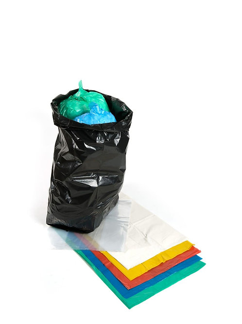 COLOURED REFUSE SACKS 18x29x39 Various Colours