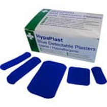 Blue Detectable Assorted Plasters x 100