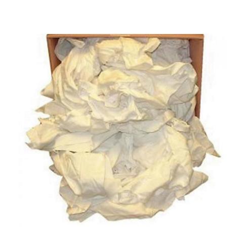 White T-Shirt (Polishing) Wiper Rags 10kg