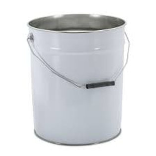 20Ltr Metal Pail White
