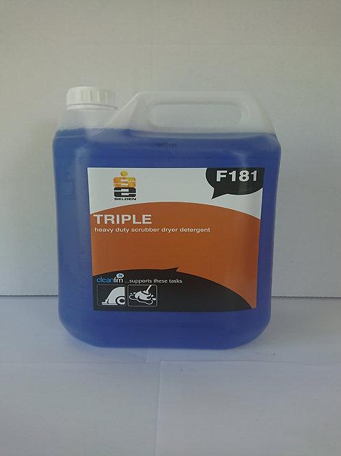2 x 5 litre Triple Strength Scrubber Drier Detergent