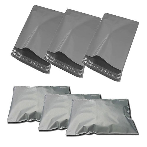 POLY MAILING BAGS GREY-PERM/SELF SEAL VARIOUS SIZES