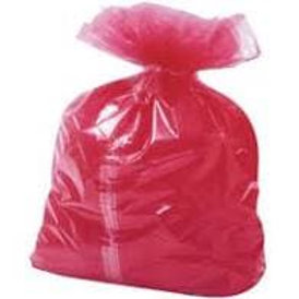 "18x28x30"" Red Laundry Bag Soluble With Centre Strip"