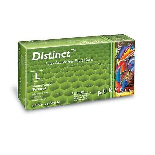 AURELIA Distinct NATURAL Latex P/F Examination Gloves