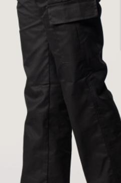 Uneek ladies cargo trousers black size16