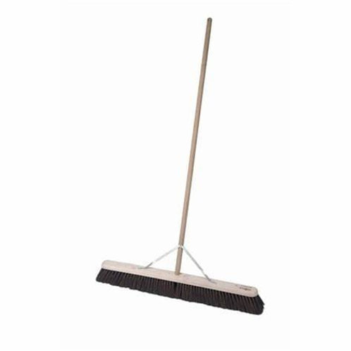 "24"" Stiff Bassine Broom With Handle And Stay"