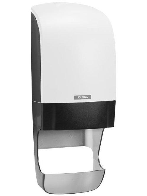 Katrin system toilet dispenser with core catcher - white