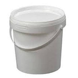 22ltr White Plastic Bucket C/W Handle