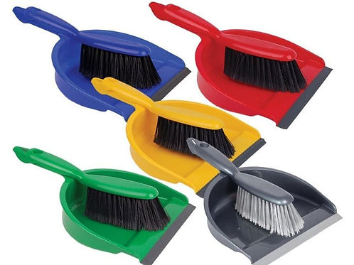Professional Dustpan & Brush - VARIOUS COLOURS