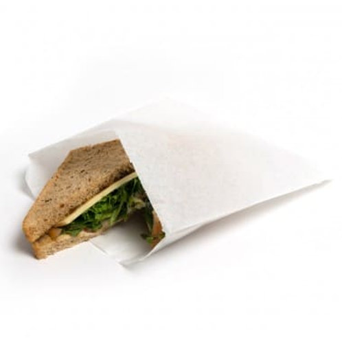 WHITE GREASEPROOF PAPER BAGS (SCOTCHBAN)- SUITABLE FOR FOOD USE