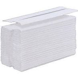 1ply White C-Fold Hand Towels