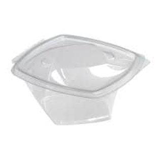 140x140x45mm Plastic Twisty Bowls 250cc (Recyclable)