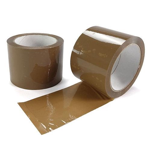 75mmx66mtr Brown Polypropylene Tape