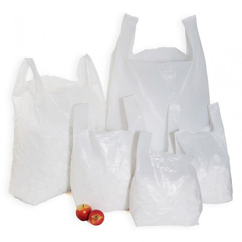 WHITE VEST HT & HD CARRIER BAGS