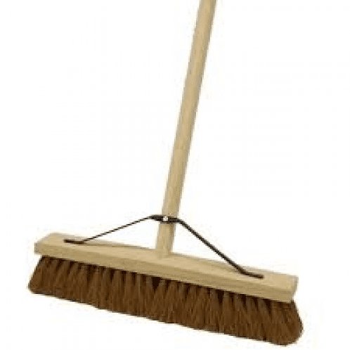 """12"""" Soft Coco Broom Head Complete With Handle"""