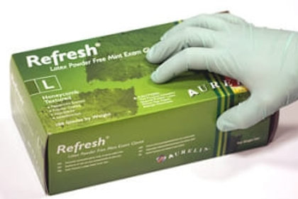 AURELIA Refresh NATURAL Latex P/F Examination Gloves