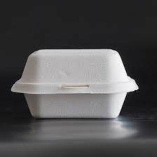 Bagasse 5 x 5 White hinged box