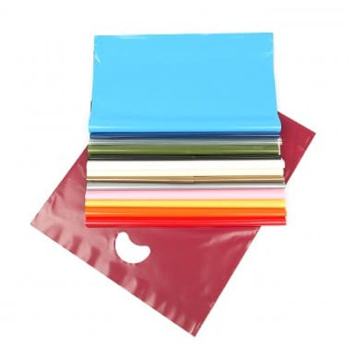 Varigauge Polythene Carrier Bags (LDPE) Treated for Print Various Colours
