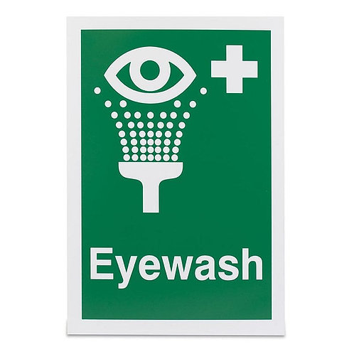 Emergency Eye Wash Sign, 150mm x 200mm - 1mm Semi Rigid Plastic