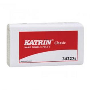 Katrin Classic 2 ply White C-Fold Hand Towel