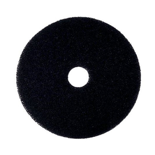 "17"" Black floor pads - coarse grade"