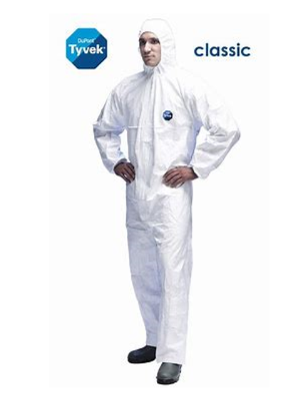 Tyvek Protech classic hooded overall - large