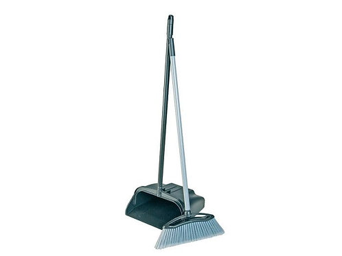 Professional Lobby Dustpan & Brush Black
